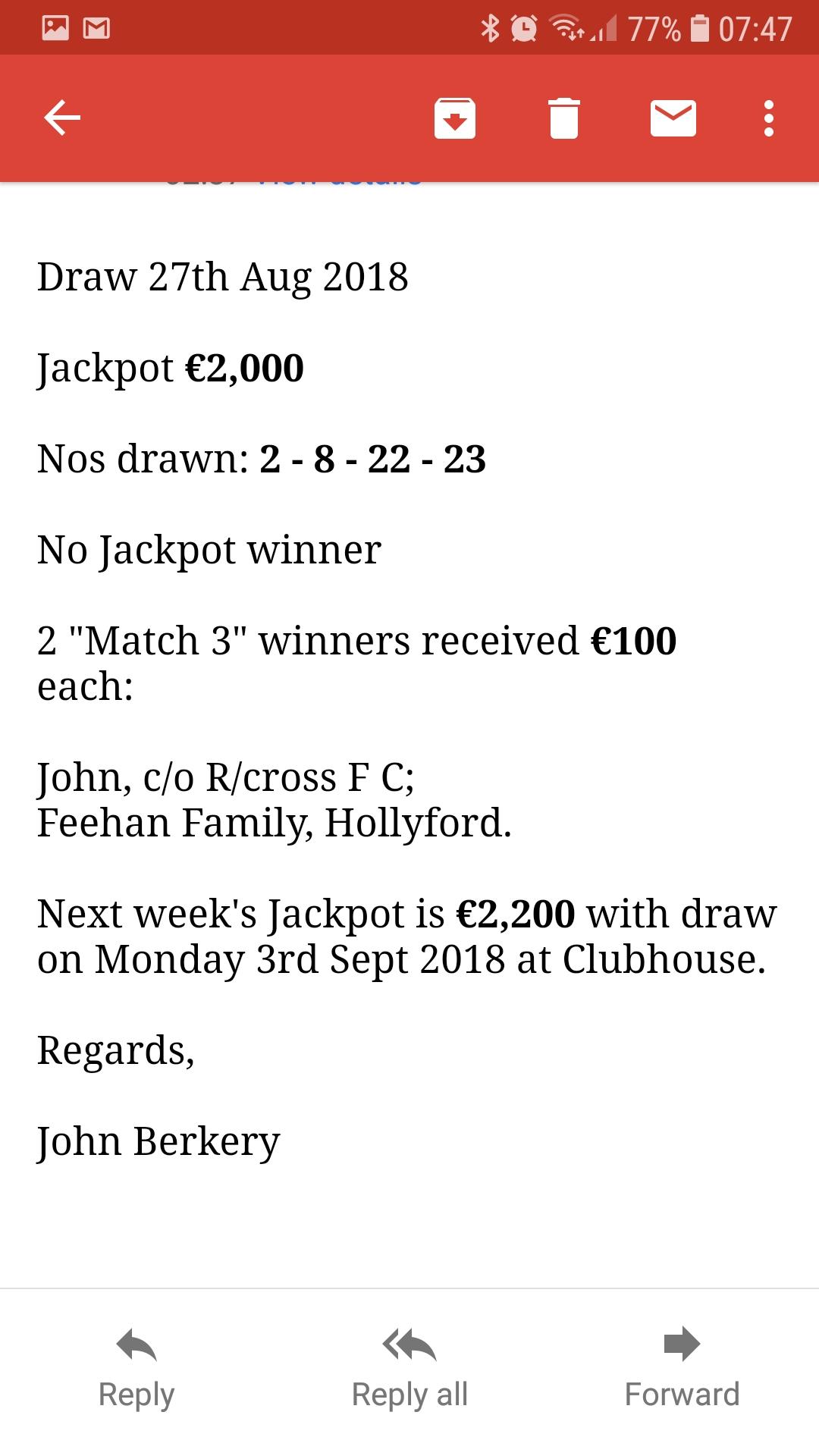 Bilboa Lotto Results   Cappamore /An Cheapach Mhór